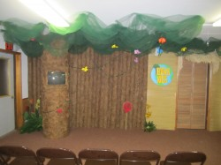 Our themed kids' church environment